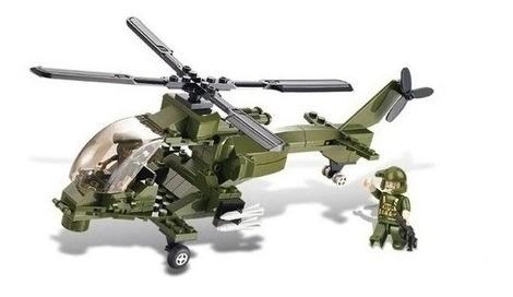 Blocos De Montar Aliança Helicóptero Lança Míssil - 163 Pç