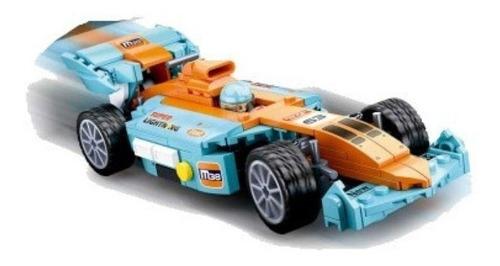 Blocos De Montar Formula Mundi Fast Car 221 Peças Azul