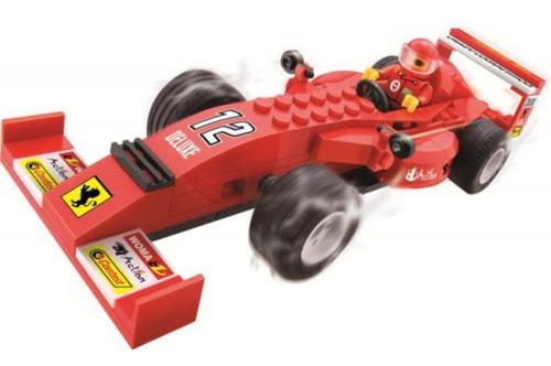 Blocos De Montar Super Maquinha Na Pista Ferrari 97 Peças