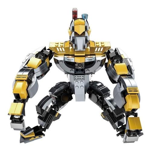 Blocos De Montar Transforme 2 Em 1 Robo E Gorila 643 Peças