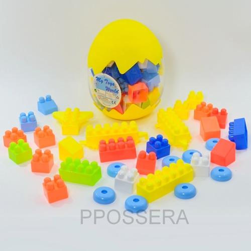 Brinquedo - Blocos De Montar Grande No Ovo 30 Peças Variadas