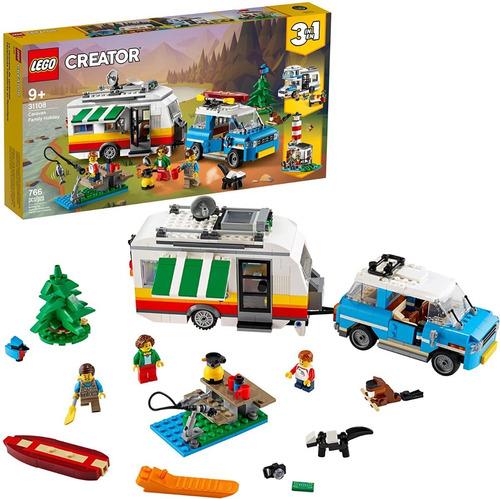Lego Creator 3 Em 1: Férias Em Família No Trailer 766 Pcs