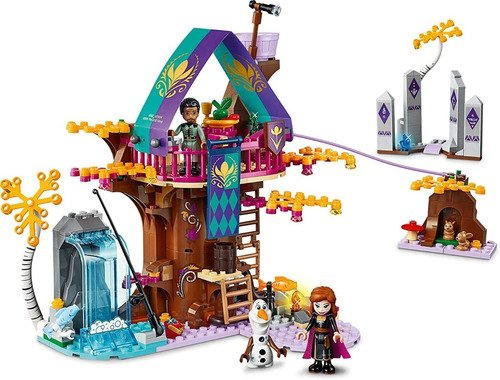Lego Frozen 2 Disney Anna Elsa Casa Árvore Encantada 302 Pcs