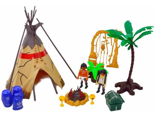 Tribo Indígena Miniaturas Guerreiros E Cenarios E Acessorios