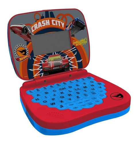 Brinquedo Laptop Didático Infantil Hot Wheels Bilíngue