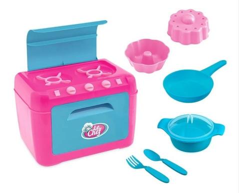 Fogão Meninas Infantil Le Chef Com Acessórios - Rosa