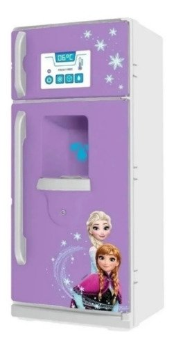 Geladeira Com 2 Porta Brinquedos Disney Frozen 34 Cm Roxa