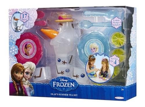 Kit Cozinha Infantil Hora Do Chá Frozen Jarra Suco C/ Olaf