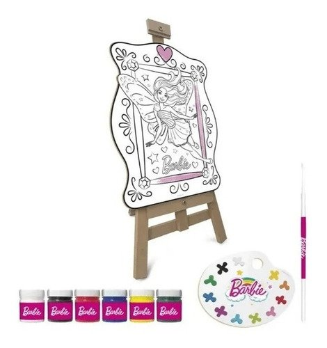 Kit Completo De Pintura Barbie Infantil Dreamtopia