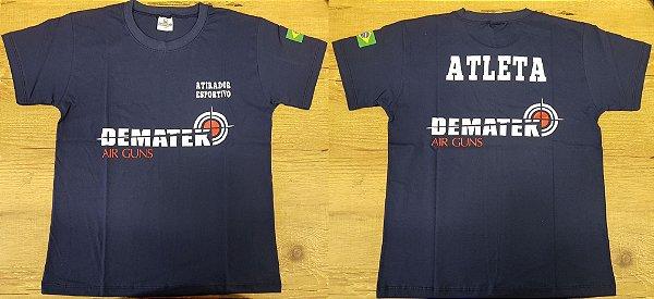 Camiseta Atirador Esportivo Azul - Dematek Airguns