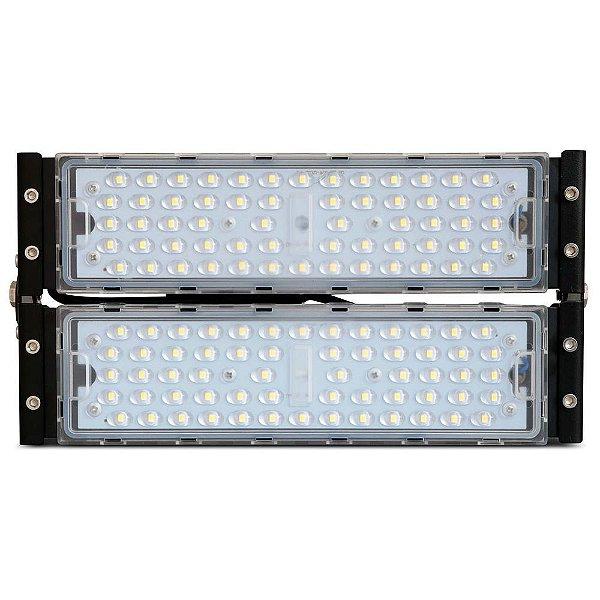 Refletor LED Holofote Modular 100w 4000k Branco Neutro  IP65