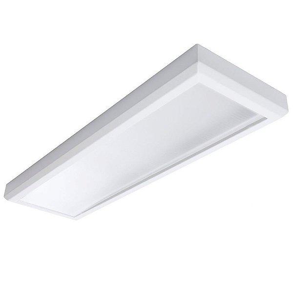 Luminária Plafon Led 48w 30x120 Retangular de Sobrepor Branco Neutro 4000k
