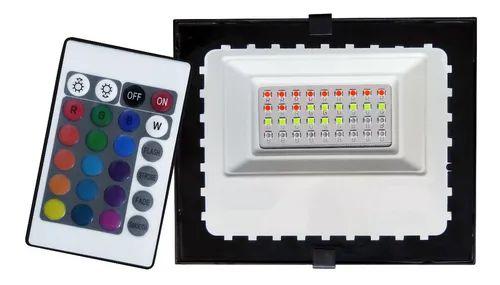 Refletor com Memoria Holofote LED 20W IP66 A prova D'Água RGB Multicolorido