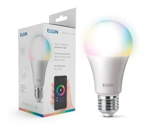 Lâmpada Bulbo 10w Wifi Alexa LED RGB Smart Bivolt Colorida