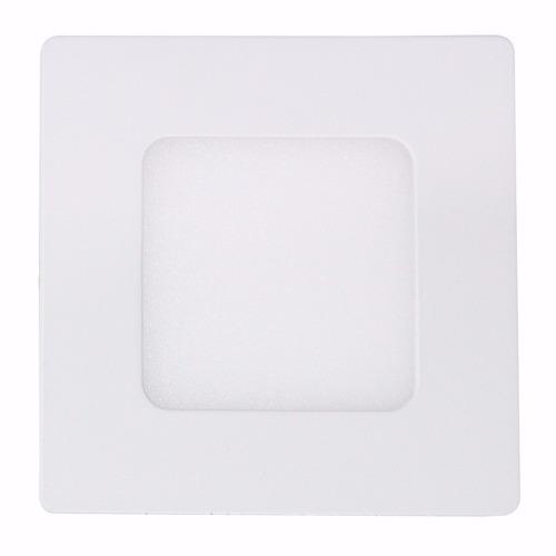 Luminária Plafon LED 3W 8x8 Quadrado De Embutir Branco Frio 6000k