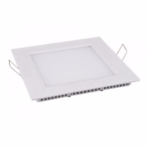 Plafon LED Luminária Quadrado Embutir 3w 8,8x8,8 Branco Frio 6000k