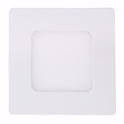 Kit 10 Luminárias Plafon LED 3W 8x8 Quadrado Embutir Branco Frio 6000k
