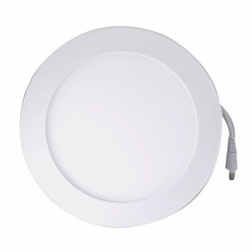 Luminária Plafon LED 18W 22x22 Redondo De Embutir Branco Frio 6000k