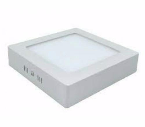 Kit 10 Luminárias Plafon LED 12W 17x17 Quadrado Sobrepor Branco Frio 6000k