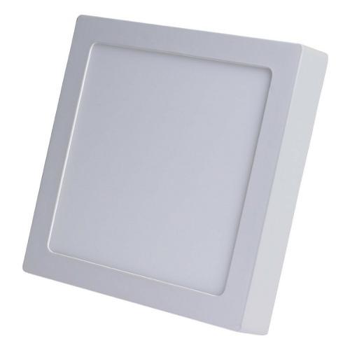 Luminária Plafon LED 25W 30x30 Quadrado De Sobrepor Branco Quente 3000k