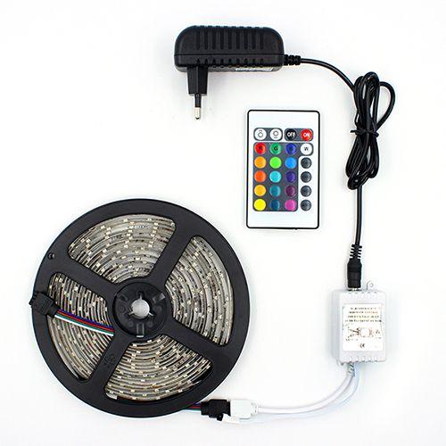 Fita LED 5050 RGB Multicolorido Siliconada Prova D'água 5 Metros + Fonte