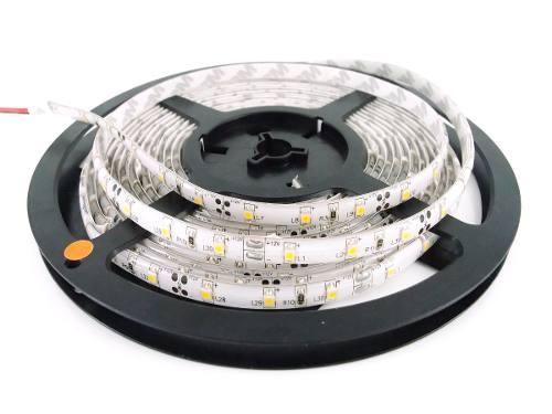 Fita LED 3528 Siliconada 5 Metros Branco Frio Bivolt A Prova D'água + Fonte