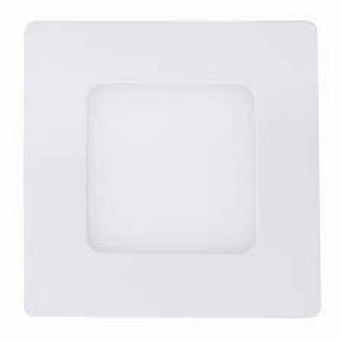 Luminária Plafon LED 3W 8x8 Quadrado De Embutir Branco Quente 3000k