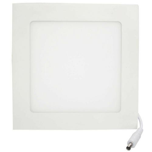 Kit 10 Luminárias Plafon LED 12W 17x17 Quadrado Embutir Branco Quente 3000k