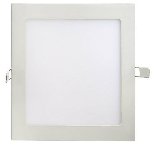Kit 10 Luminárias Plafon LED 18W 22x22 Quadrado De Embutir Branco Quente 3000k
