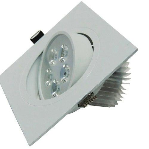 Spot 5W LED Dicróica Direcionavel Quadrado Gesso Sanca De Embutir Branco Quente 3000k
