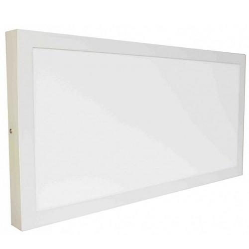 Luminária Plafon LED 36W 30x60 Quadrado De Sobrepor Branco Frio 6000k