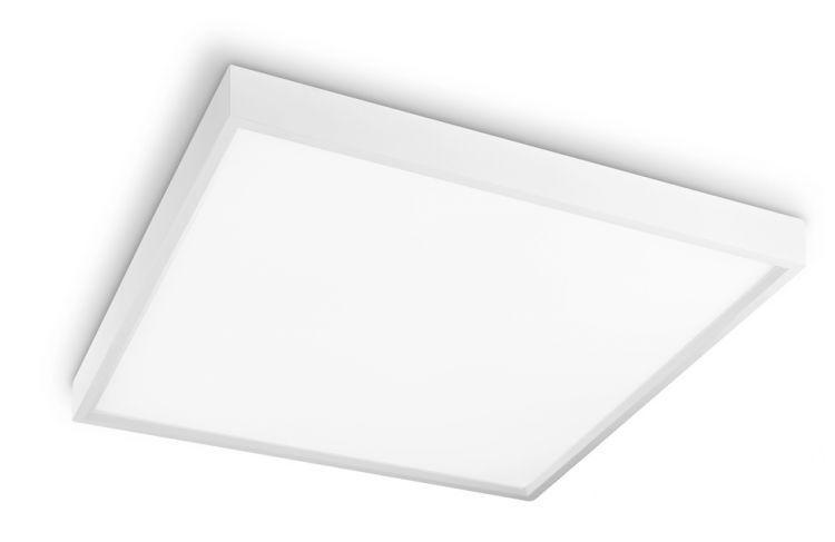 Kit 10 Luminárias Plafon LED 36W 40x40 Quadrado Sobrepor Branco Frio 6000k