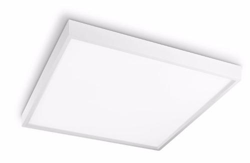 Luminária Plafon LED 36W 40x40 Quadrado De Sobrepor Branco Frio 6000k