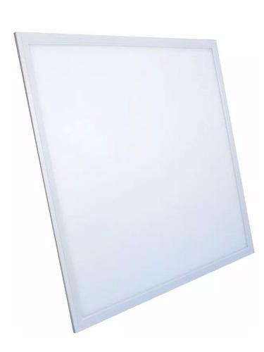 Luminária Plafon LED 48W 60x60 Quadrado De Embutir Branco Frio 6000k