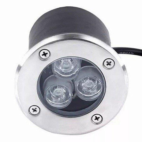 Spot Balizador LED 3W Embutir Para chão Jadim e piso Branco Frio IP67 A Prova D'Agua