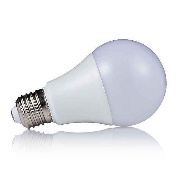 Kit 10 Lâmpadas Super LED 9W Bulbo Bivolt Branco Frio 6000k
