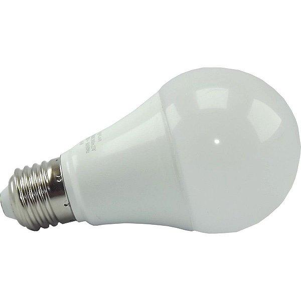 Kit 10 Lâmpadas Super LED 12W Bulbo Bivolt Branco Frio 6000k