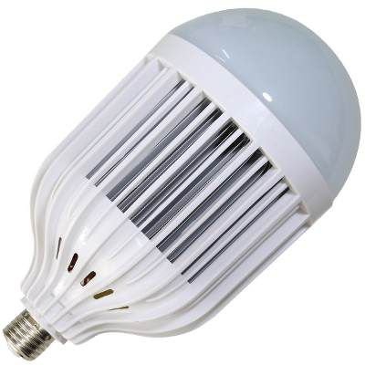 Kit 10 Lâmpadas Super LED 50W Bulbo Bivolt Branco Frio 6000k