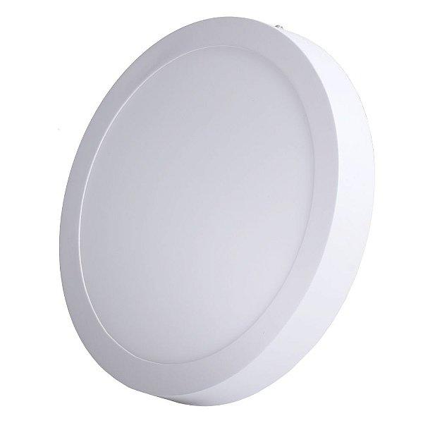 Luminária Plafon LED 18W 22x22 Redondo De Sobrepor Branco Frio 6000k