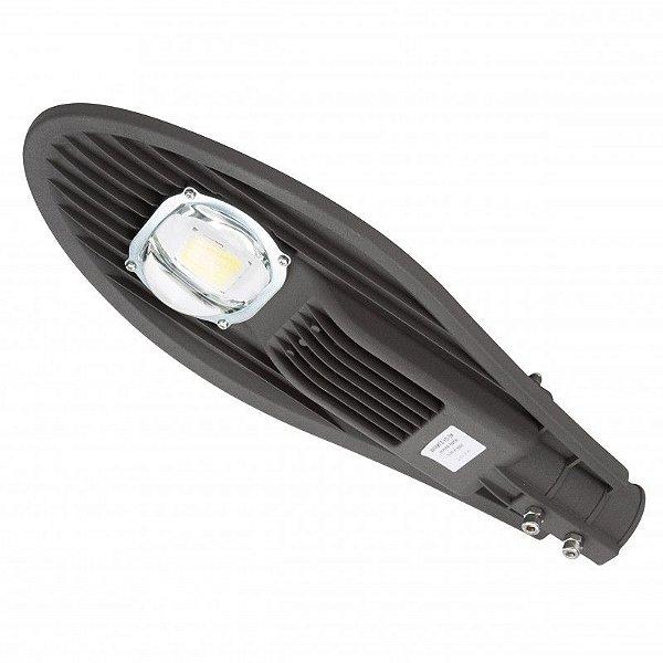 Luminária Publica Petala LED 50W Para Poste de Rua Cob Branco Frio