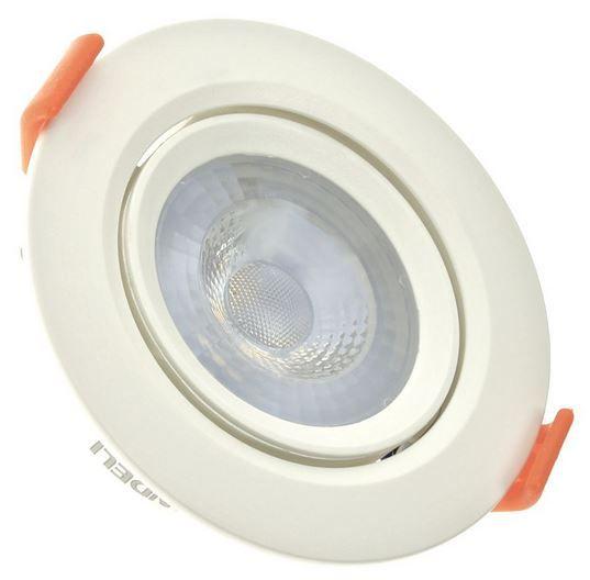 Spot 5W LED Dicróica COB Direcionavel Redondo Gesso Sanca De Embutir Branco Quente 3000k
