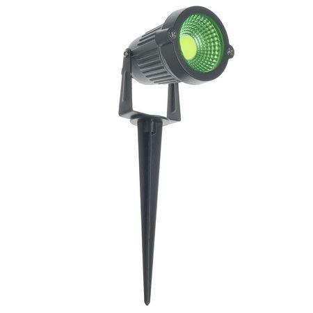 Luminária LED 3W Espeto De Jardim Cob Verde Prova D'água