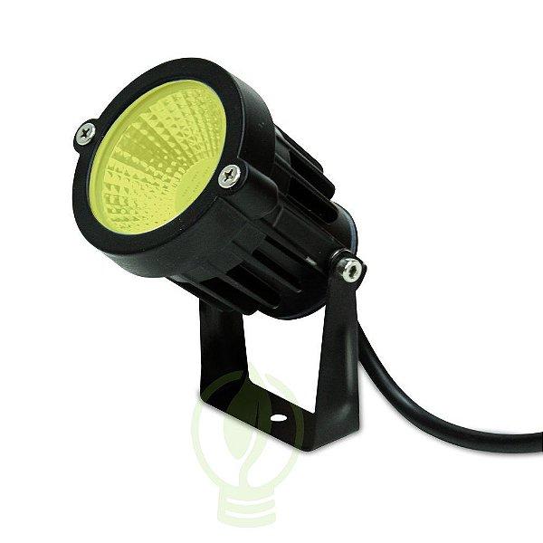 Luminária LED 7W Espeto De Jardim Cob Branco Quente Prova D'água