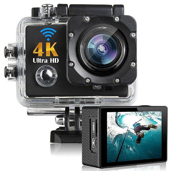 Action Cam 4k Filmadora Câmera Capacete Esporte Mergulho