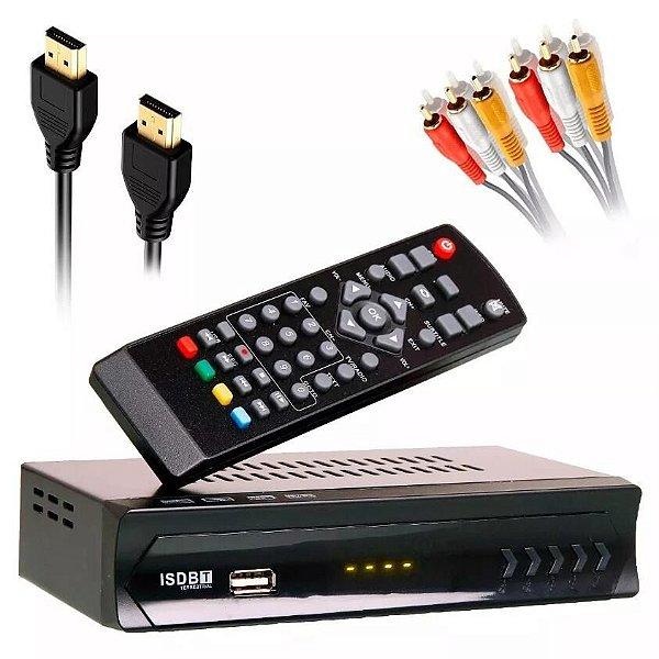 Conversor Tv Digital Usb Rca Hdmi Função Gravador Full Hd