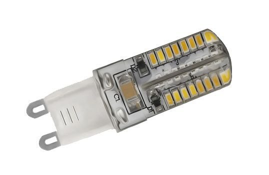 Lâmpada 3W LED Halopin G9 Lustres E Pendentes Bivolt Branco Quente 3000K