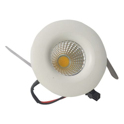 Mini Spot LED 3W De Embutir Redondo Teto Cob Branco Quente 3000k