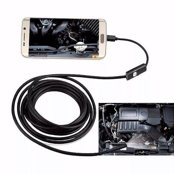 Câmera Inspeção Sonda Endoscópica 3,5 Metros Android Otg Pc