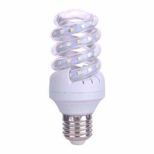 Lâmpada De Milho Espiral 7W LED Bivolt Branco Frio 6000k