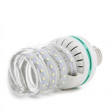 Lâmpada De Milho Espiral 12W LED  Bivolt Branco Frio 6000k